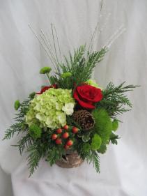 Happy Holidays Fresh Christmas Arrangement
