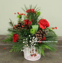 Happy Holidays One of a kind table center