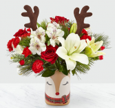 HAPPY HOLIDAYS VASE