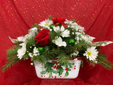 Happy Holly-days! Christmas Centerpiece