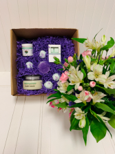 HAPPY HOUR SPA box and flower set LOCAL DELIVERY ONLY