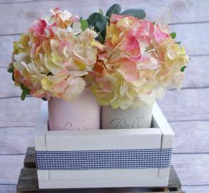 Happy Hydrangea Mason Jar Planter Box in Spring Hill, FL | THE IVY COTTAGE