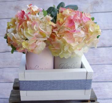 Happy Hydrangea Mason Jar Planter Box