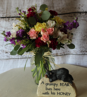 Happy  Its your day Mixed design in Stevensville, MT | WildWind Floral Design Studio