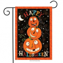 Happy Jack O Lanterns Garden Flag