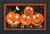 Happy Jack O Lanterns Indoor/Outdoor Mat