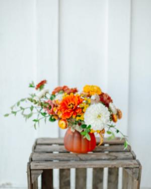 Happy lil' pumpkin Vase in Beloit, OH   American Flower Farm & Florist