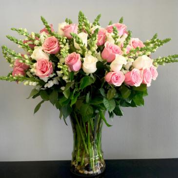 Happy Love Vase of Flowers