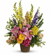 Happy Memories Basket Arrangement