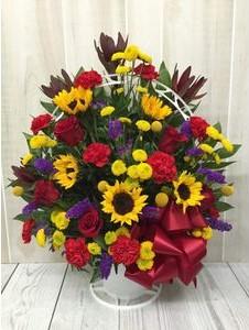Happy Memories Funeral Basket