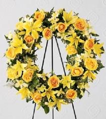 Happy Memories Funeral Wreath