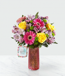 Happy Moments Bouquet by Hallmark Vase Arrangement