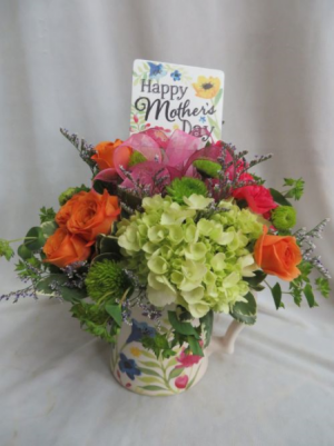 Happy Mother's Day Fresh Mixed Flowers in a Mug in Farmville, VA | CARTERS FLOWER SHOP
