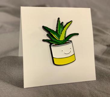 Happy Plant Pin Card