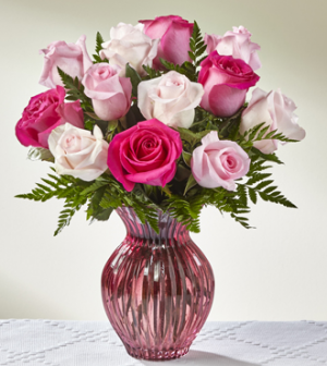 Pretty in Pink Bouquet in Bryan, OH | Farrell's Lawn & Garden and Flowers