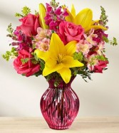 Happy Spring Bouquet vase