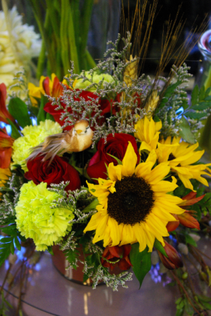 Happy Sunflowers Mixed floral arrangement in Corner Brook, NL | The Orchid