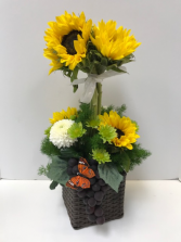Happy Sunflowers Vase arrangement