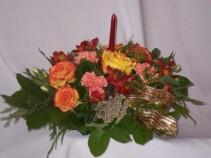 "THANKSGIVING CENTERPIECE ""FLORISTS -  FLOWERS"" ""FLORISTS| FLOWERS"" Thanksgiving Flowers From AMAPOLA BLOSSOMS FLORISTS Prince George BC"