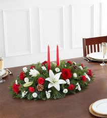 Happy Traditional Holiday Centerpiece  Medium Shown