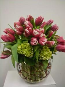 Happy tulips  vase