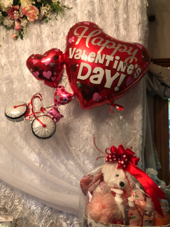 Happy  Valentines Day Singing Bicycle Balloon