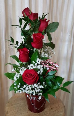 Happy Valentines Fresh Arrangement