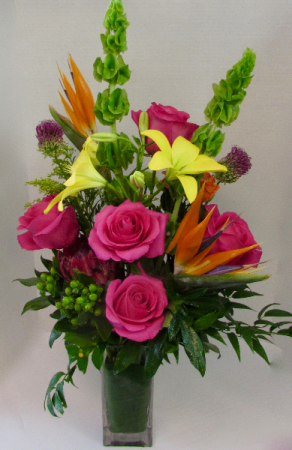 Happy! Vase Arrangment in Calgary, AB   BEST OF BUDS