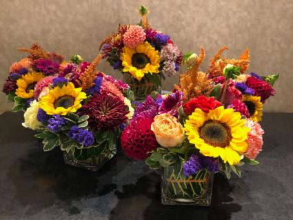 Harmonies Of Autumn Square vase