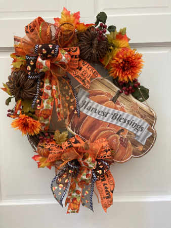 Harvest Blessings Wreath Silk