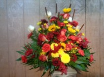 HARVEST BLOOMS FLORAL ARRANGEMENT