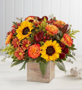 Harvest Boquet Wood Box