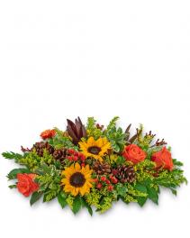 Harvest Bounty Centerpiece Flower Arrangement