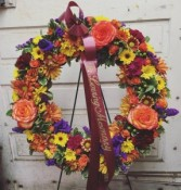 Harvest Bounty Sympathy Wreath
