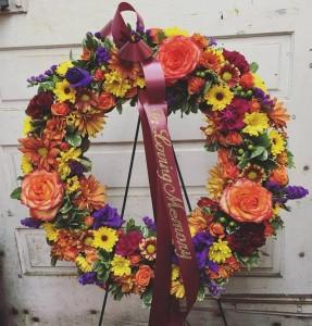 Harvest Bounty Sympathy Wreath