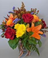 Harvest Bouquet Fresh Vase Arrangement