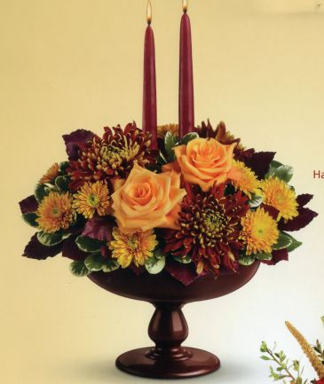 Harvest Bowl Bouquet Fall Centerpiece