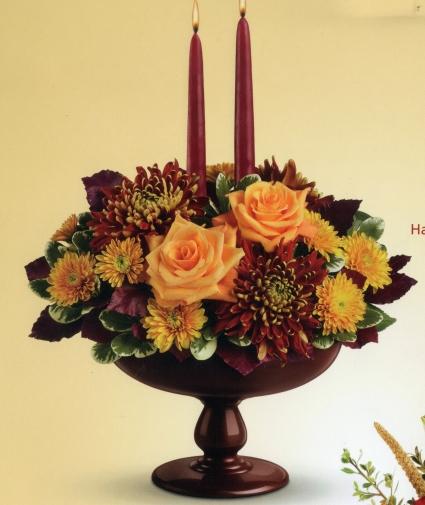 Harvest Bowl Bouquet Fall Centerpiece