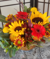 Harvest Bowl Mixed Fall Arrangement