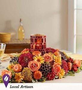 Harvest Centerpiece Keepsake Mosaic Candleholder: Best Seller