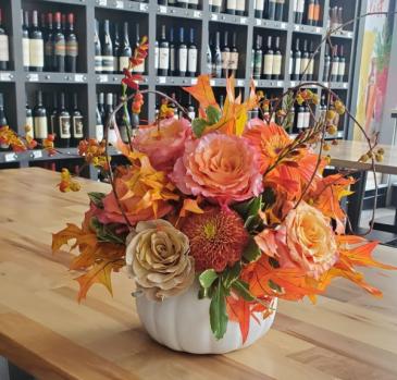 Harvest Centerpiece vase arrangement