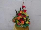 Harvest  Basket Arrangement