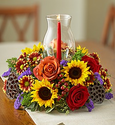 Harvest Glow Centerpiece  in Oakdale, NY | POSH FLORAL DESIGNS INC.