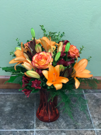 Harvest Glow  Vase Arrangement