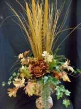 Harvest Goblet Silk Floral Arrangement
