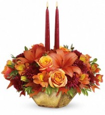 Harvest Gold Centerpiece T12T100