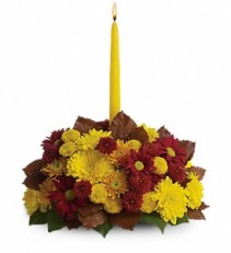 Harvest Happiness  Candled Table Centerpiece