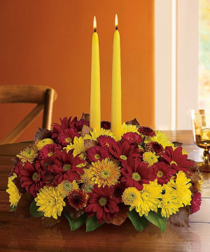 HARVEST HAPPINESS FALL CENTERPIECE in Elyria, OH | PUFFER'S FLORAL SHOPPE, INC.