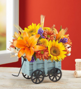 Harvest Hayride  Fall Arrangement