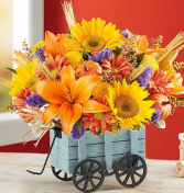 Harvest Hayride Flower Arrangement